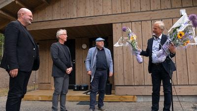 Fra åpningen av Vy i Hyttegrenda på Maihaugen, 22. juni 2018.