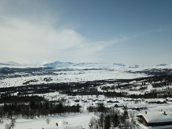 Dronebilde fra Brakastolen